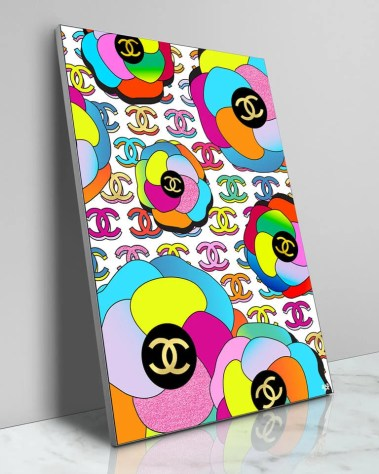 Large Colorful Chanel Logo Fashion Pop Wall Decor