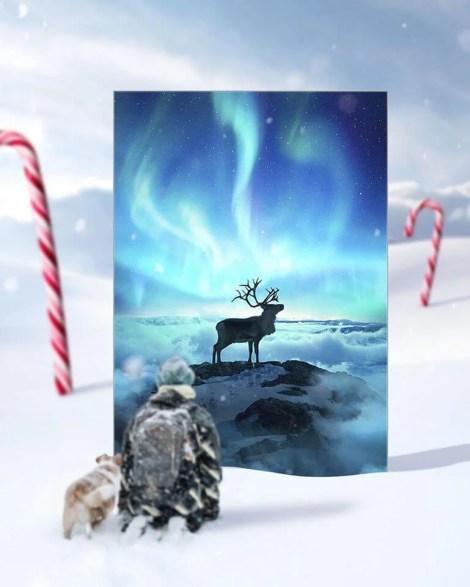 Big Mystic Deer Art Huge Decor Prints