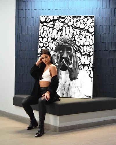 Large Tupac Wall Art