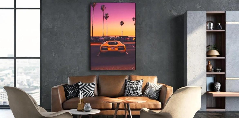 Lamborghini Car Wall Art Large