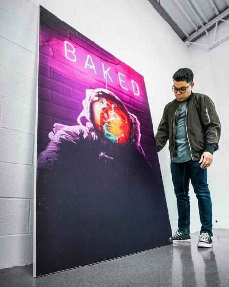 Huge Purple Baked Sign Wall Art Huge Decor Prints