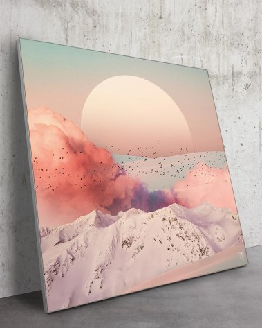 Huge Pastel Skyline Wall Art Massive