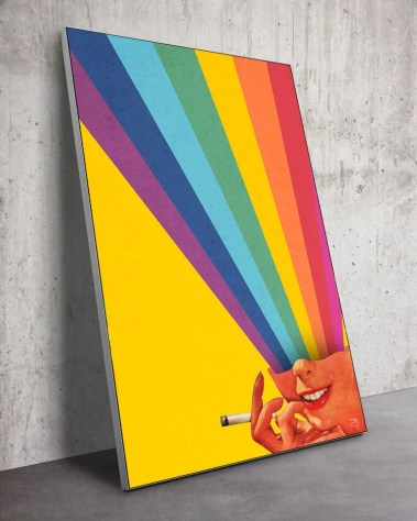 Huge Frame Rainbow Face Wall Art Massive