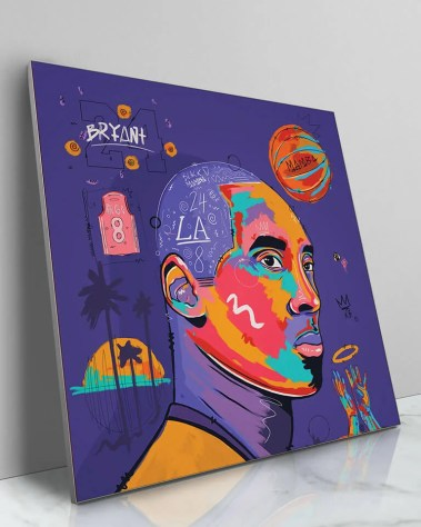 Big Kobe Bryant Mamba Gigi Bryant Pop Art Painted Wall Decor