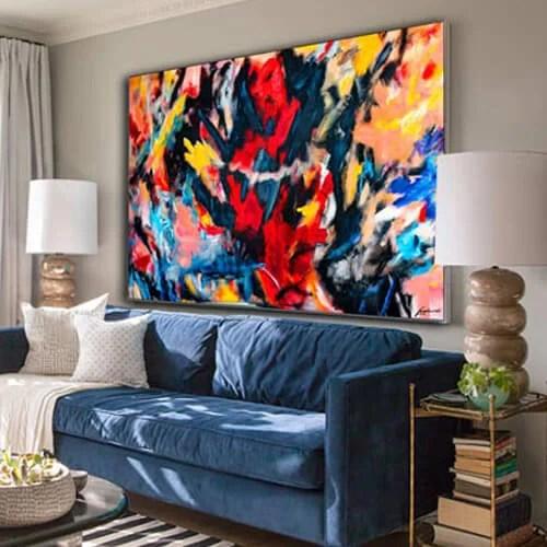 Abstract Wall Art Large