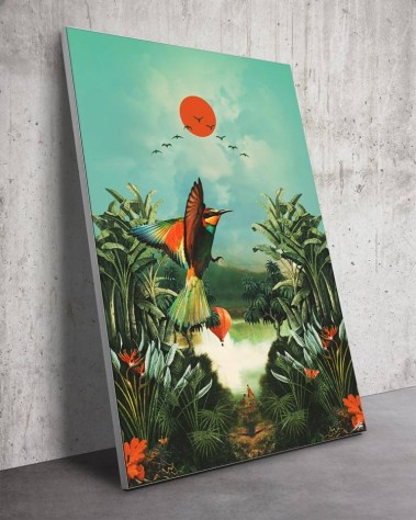 Nature Wonderland Jungle Birds Surreal Digital Surrealism Large Wall Art