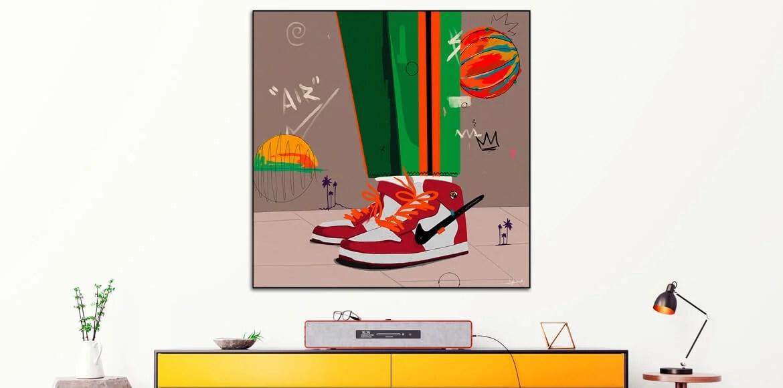 Nike Air Jordan Large Pop Wall Art