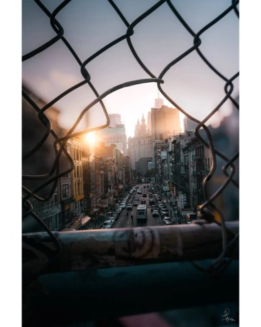 Large Chinatown Manhattan Wall Art New York NY Fence Urban Photography Ivan Wong
