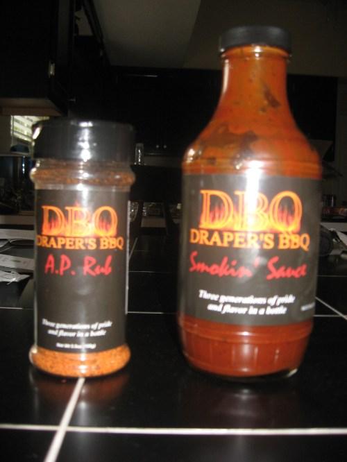 Draper's BBQ Smokin' Sauce and A.P. Rub