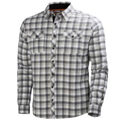 Men's gray check cotton Shirt