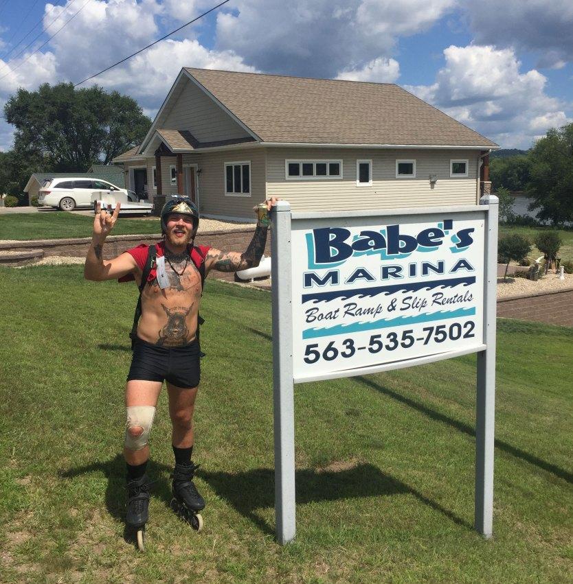 Caleb at Babe's Marina