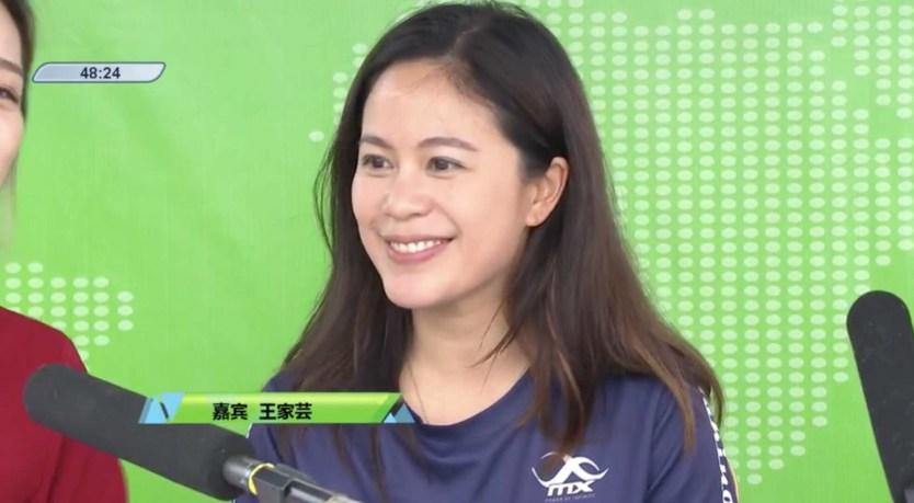 Angelina Wong at the Pengzhou International Marathon