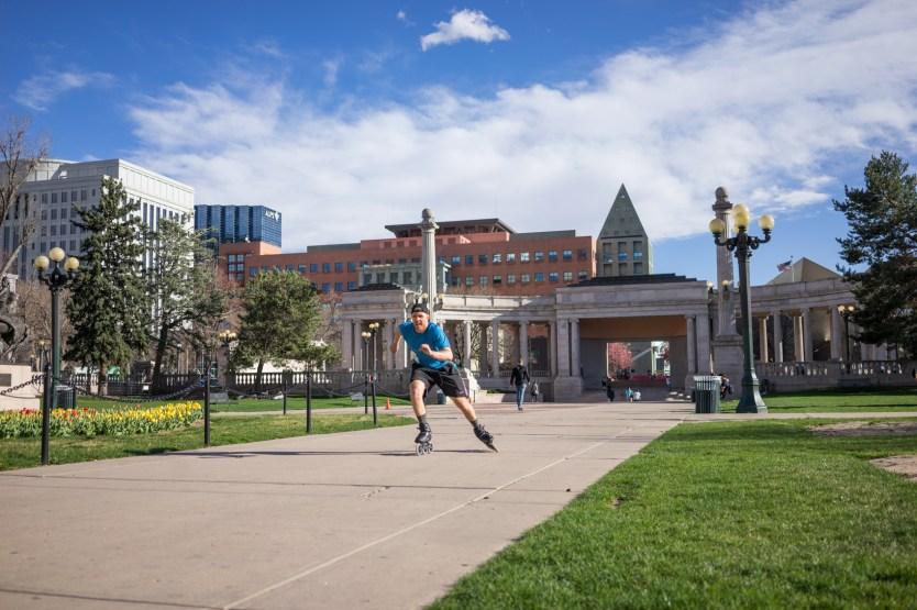 Mike Lempko skating in Denver