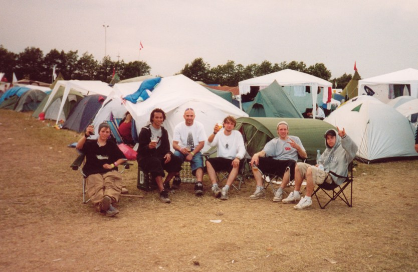 Christian Berg, Seth Nicolas, Igor Jovanovic, Daniel Clausen, Joje Nyberg and Niclas at Roskilde Festival before the skate show.