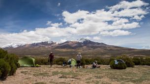 Camping in Bolivia.