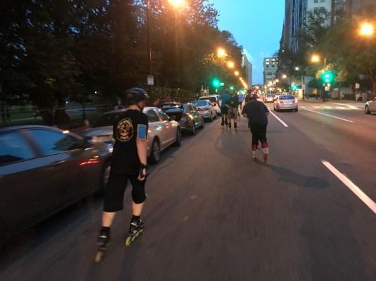 skating in the street