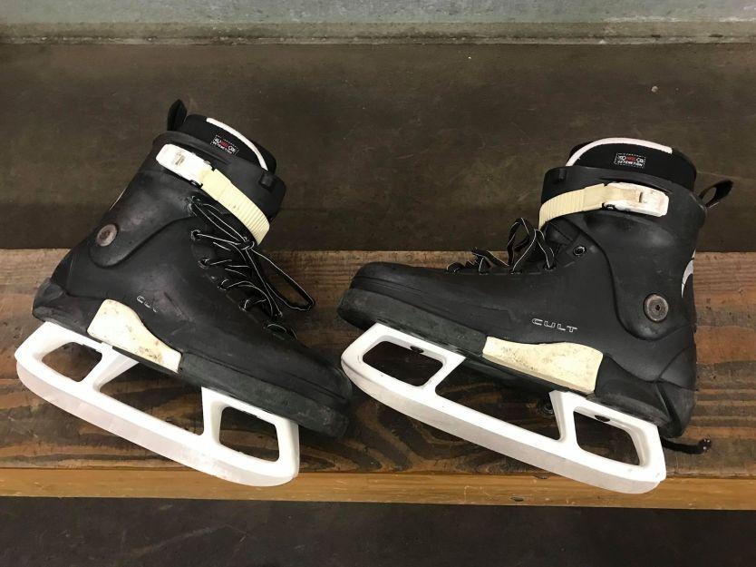 Rollance Hockey Frames on Jan Welch's size 10.5 (44) Razor Cults