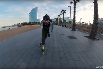 Pascal Briand Freeskating Barcelona with the Insta360 One X Camera