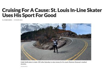 Cruising For A Cause: St. Louis In-Line Skater Uses His Sport For Good