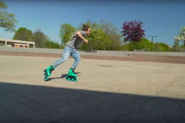 Eugen Enin MEGACRUISIN' on the Powerslide Imperial 125 Jade Skates