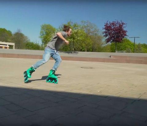 Eugen Enin MEGACRUISIN' on the Powerslide Imperial 125 Jade Skates
