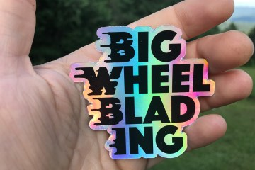 Limited Edition Holographic Die Cut Big Wheel Blading Stickers