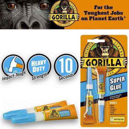Gorilla Super Glue Pack 2 1250B