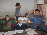 Kids at a school in Nepal