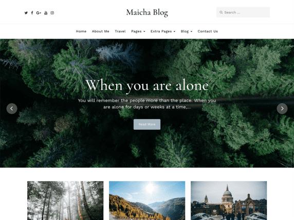 maicha blog wp theme
