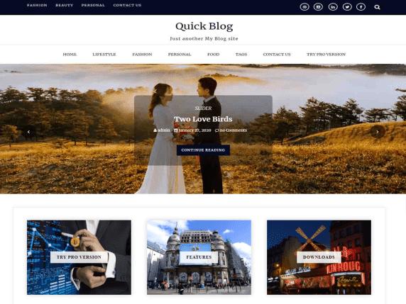 quick blog wordpress theme