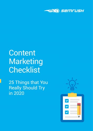 Content Marketing Checklist - 25 Things that You Really Should Try in 2020