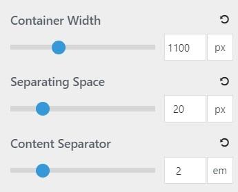 spacing in generatepress