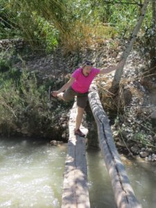 Crossing over a bridge