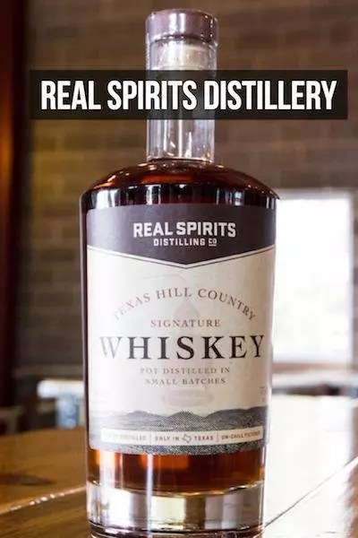 Real Spirits Distillery Texas hill country