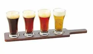 beer flight tasting board