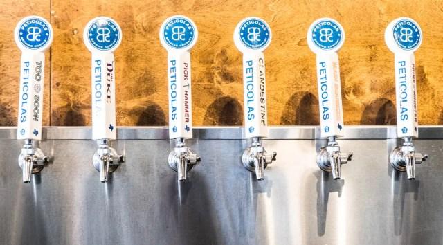 craft beer taps