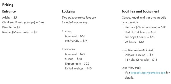black rock park camping price
