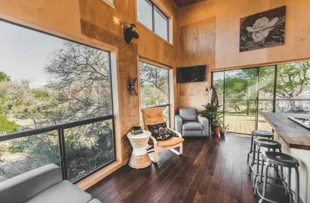 modern tiny home dog friendly