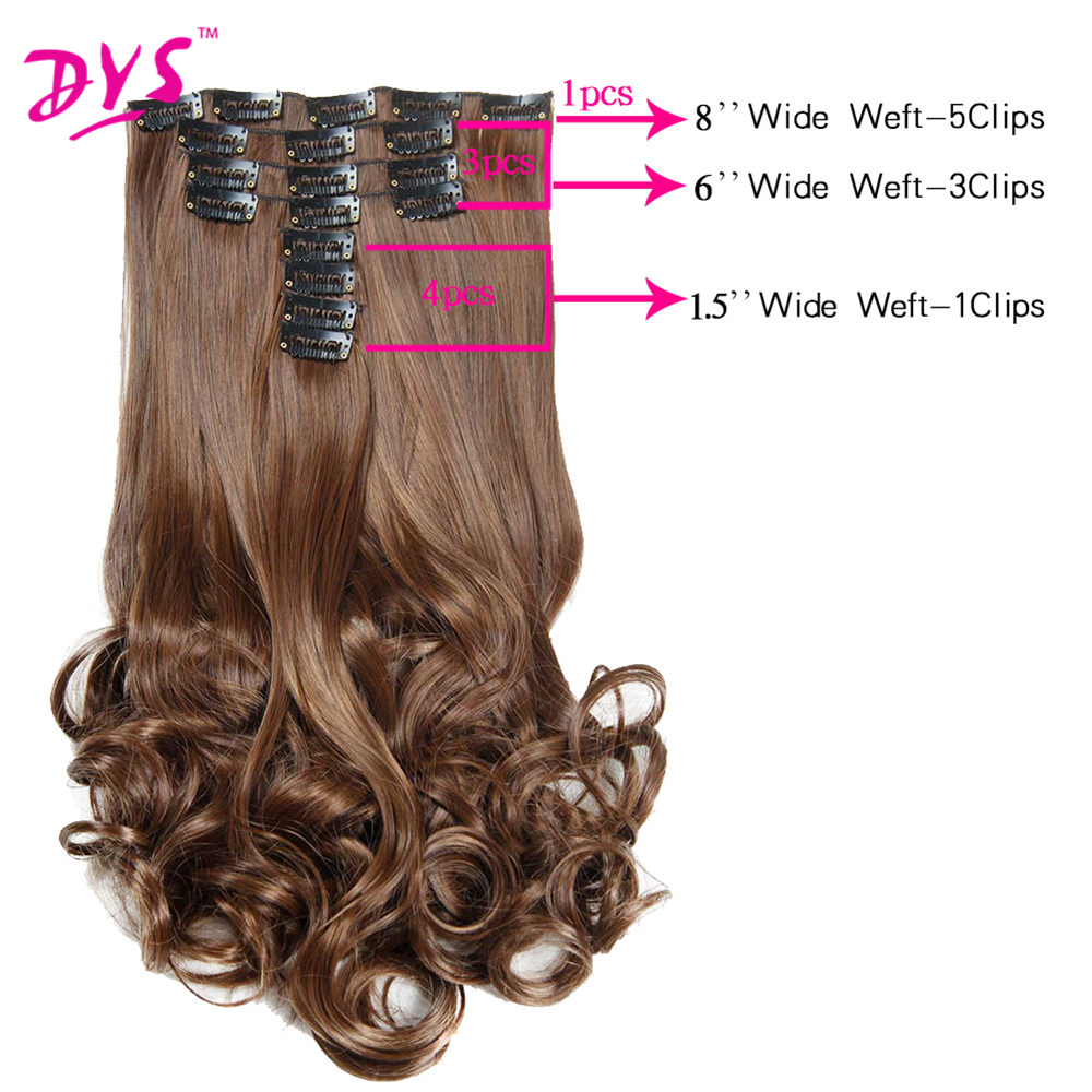 Hair Extensions For Full Head Long Wavy False Hairpieces Heat