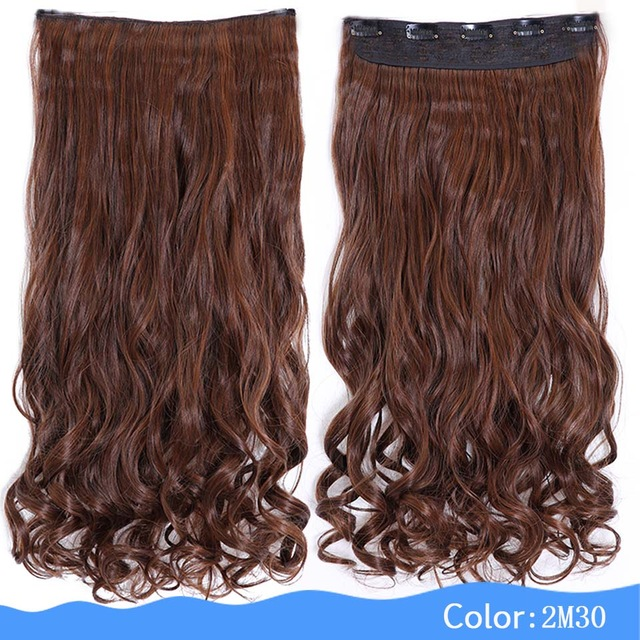 Hair Extension Heat Resistant Fake Hairpieces Long Wavy Hairstyles ...
