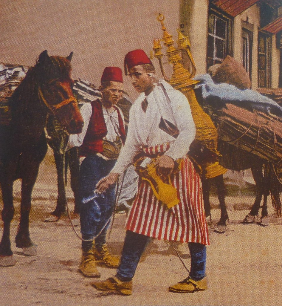 Продавец бозы на старой фотографии. Фото: Елена Арсениевич, CC BY-SA 3.0