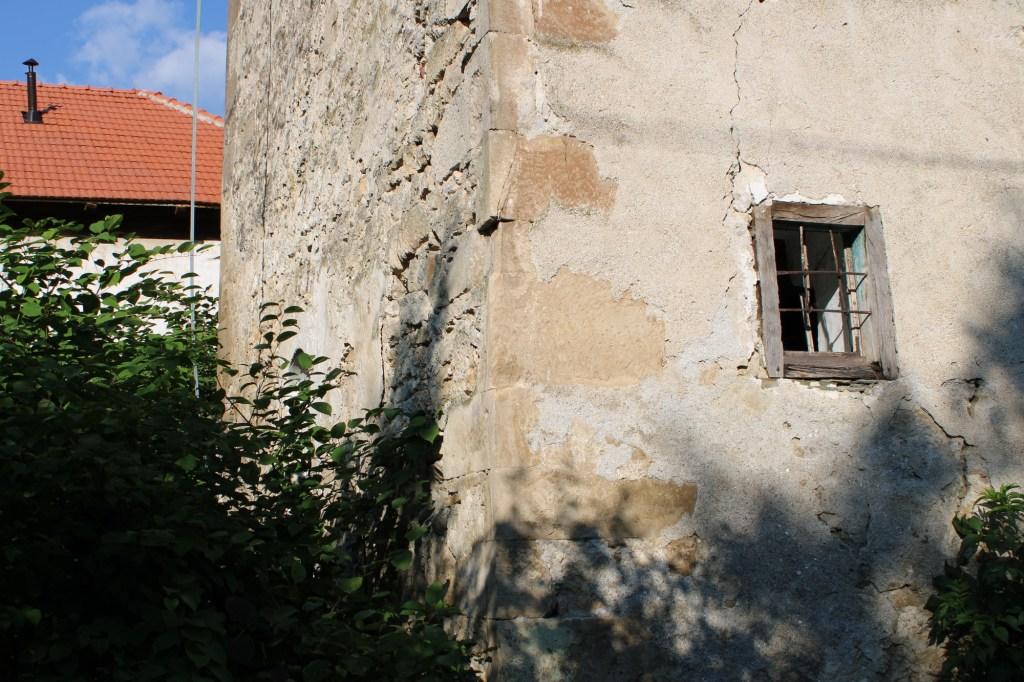Вход зарос кустарником. Фото: Елена Арсениевич, CC BY-SA 3.0