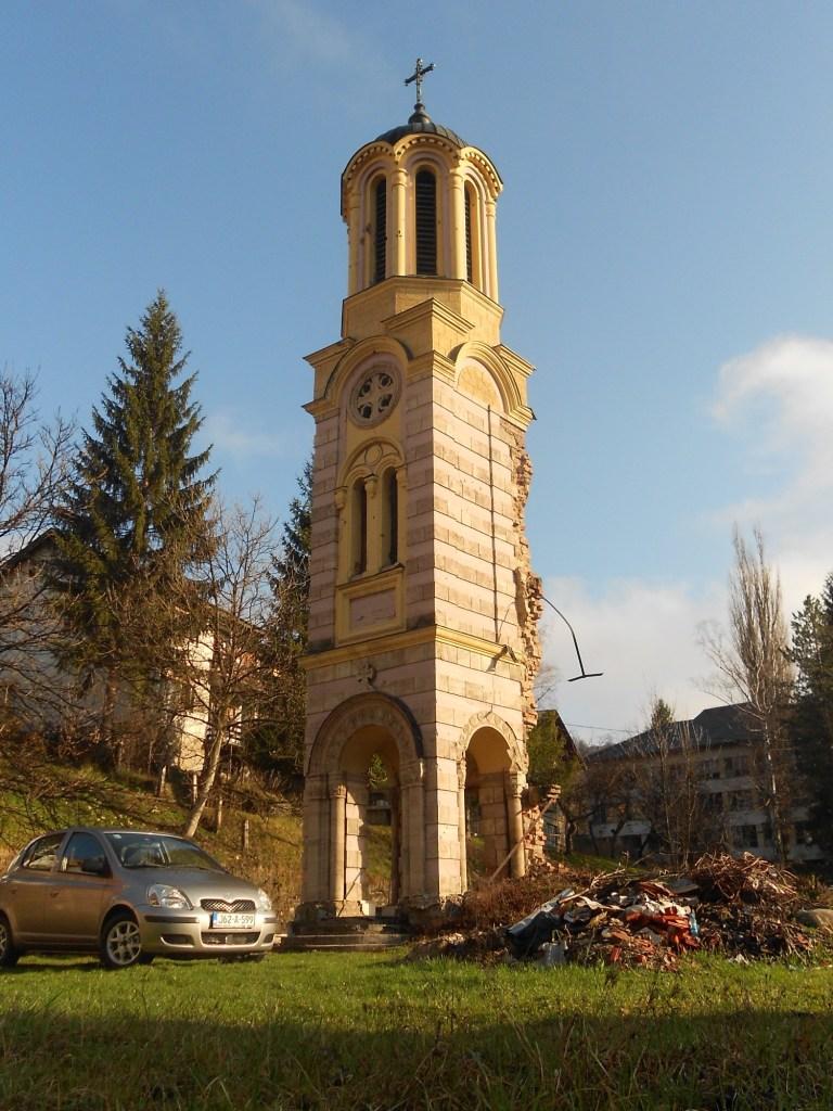 Колокольня православной церкви в Яйце. Фото: Елена Арсениевич, CC BY-SA 3.0