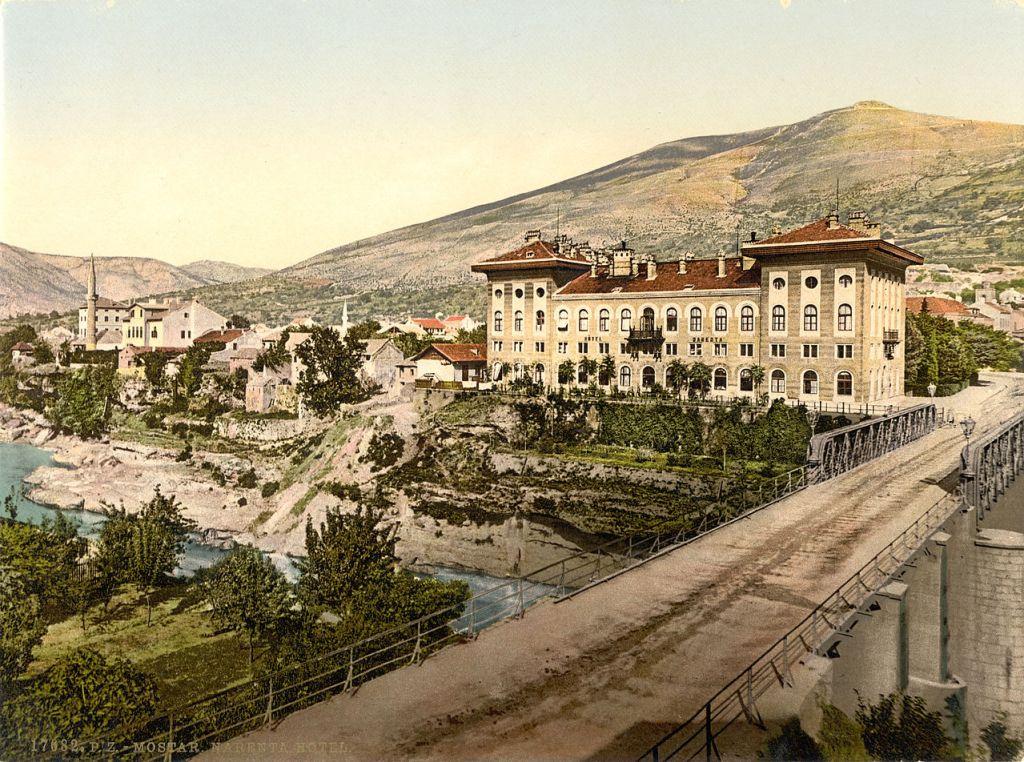 Отель «Неретва». Автор фото неизвестен, public domain