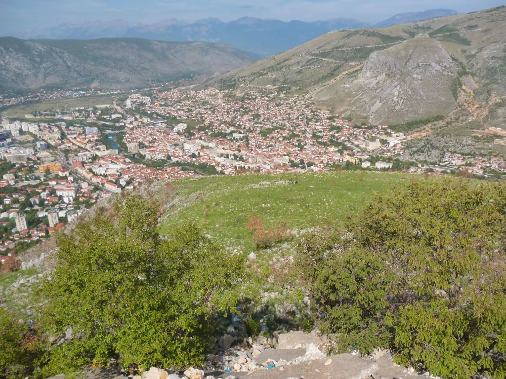 Вид на восточную часть Мостара. Фото: Елена Арсениевич, CC BY-SA 3.0