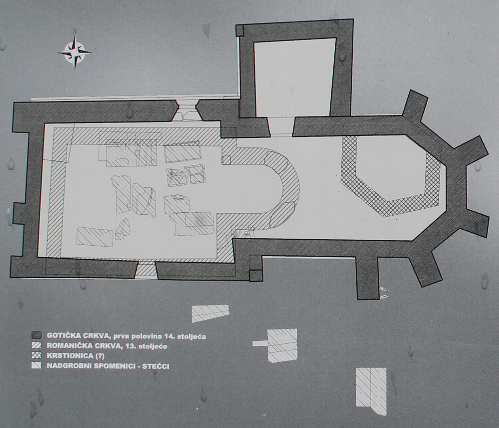 План церквей и крестильни. Фото: Елена Арсениевич, CC BY-SA 3.0