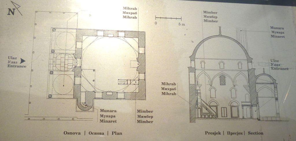 План и разрез мечети. Фото: Елена Арсениевич, CC BY-SA 3.0