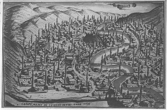 Сараево в 1697 году. Автор неизвестен, public domain