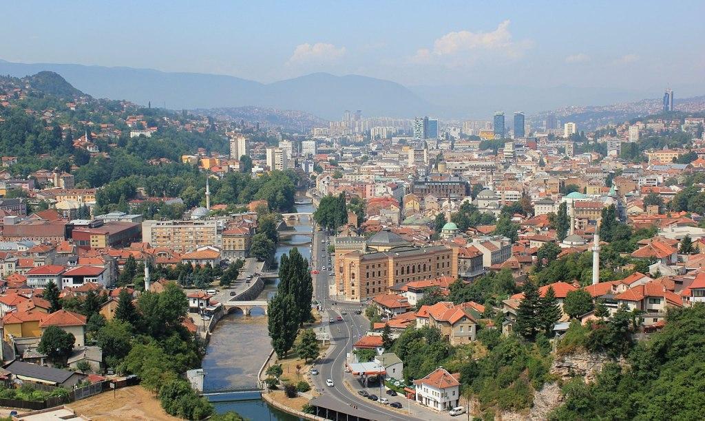 Вид с Жёлтого бастиона на Сараево. Julian Nitzsche, CC BY-SA 4.0