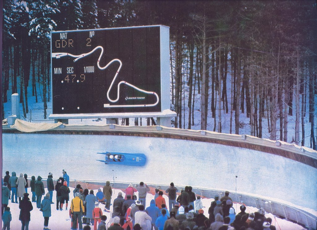 Чемпионат Европы по бобслею в Сараево, 1983 год. Фото: Organizing Committee of the XVI Olympic Winter Games, Yugoslavia -- Sarajevo 1984 Ivan Terzić, public domain